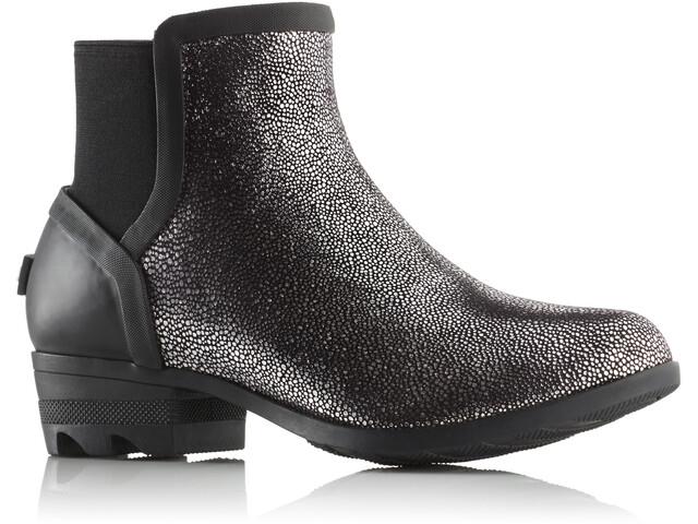 Sorel Janey Chelsea Boots Dames, black/pure silver